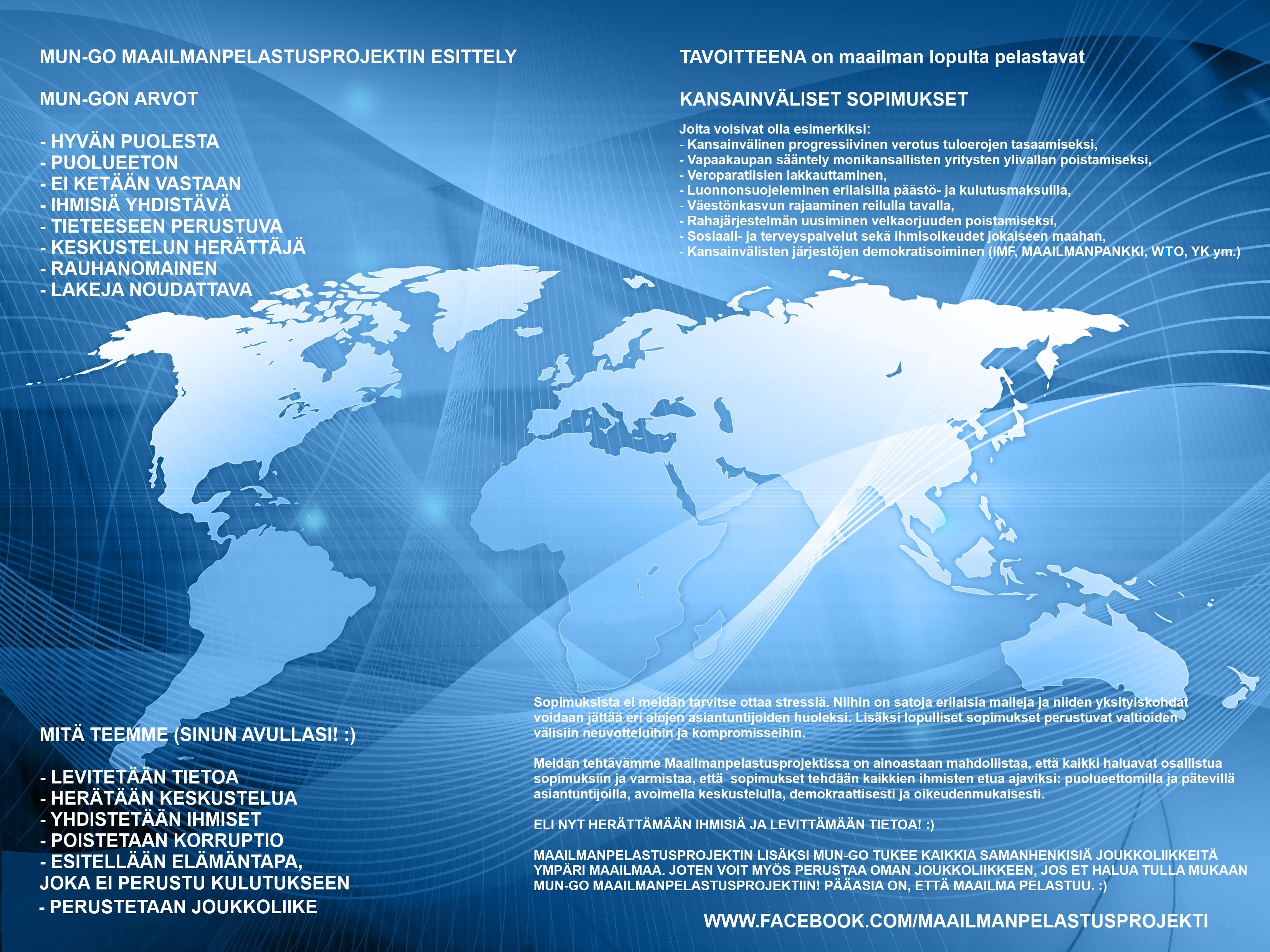 Maailmanpelastusprojekti Esittely